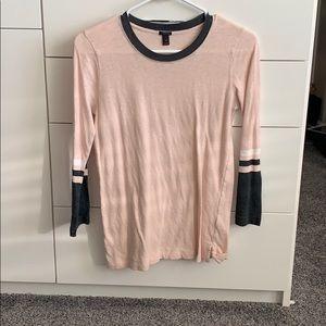 Blush color j crew tshirt